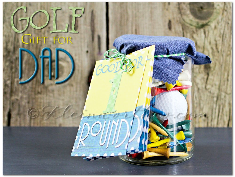Golf Gifts for Dad, gifts in jar, golf gift ideas, free printable