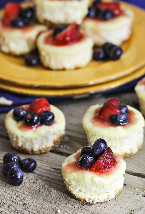 how to make mini cheesecake