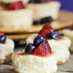 Patriotic Mini-Cheesecakes
