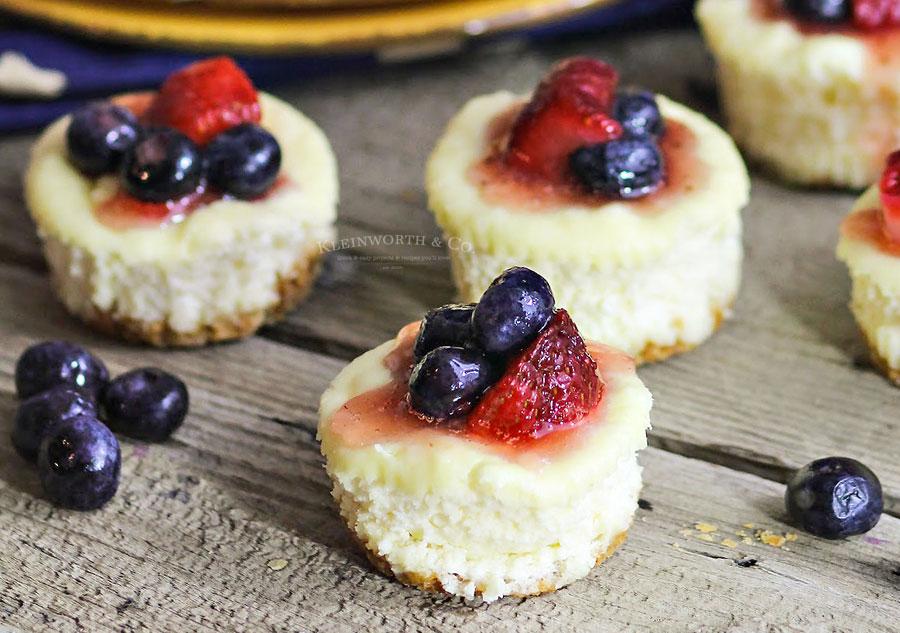Patriotic Mini-Cheesecakes