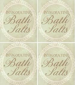 homemade bath salts free printable for gift giving from kleinworthco.com