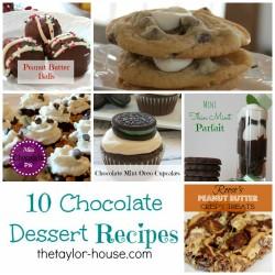 10 Chocolate Dessert Recipes