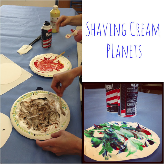 6 Quick Recipes & Project Ideas, shaving cream planets kids projects