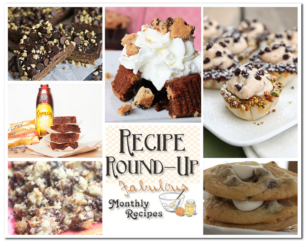 recipe round-up, best chocolate chip recipes, ultimate chocolate chip recipes