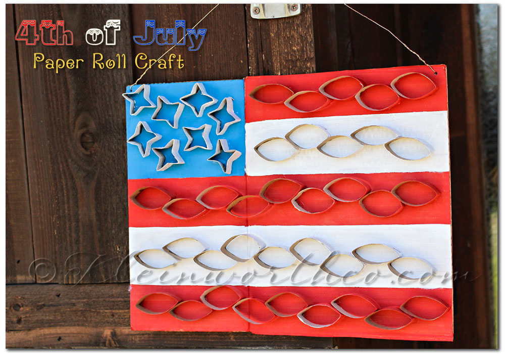 4th of July Paper Roll Craft