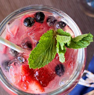 Red White & Blue Daiquiri cocktail
