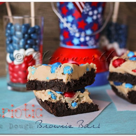 Patriotic Cookie Dough Brownie Bars
