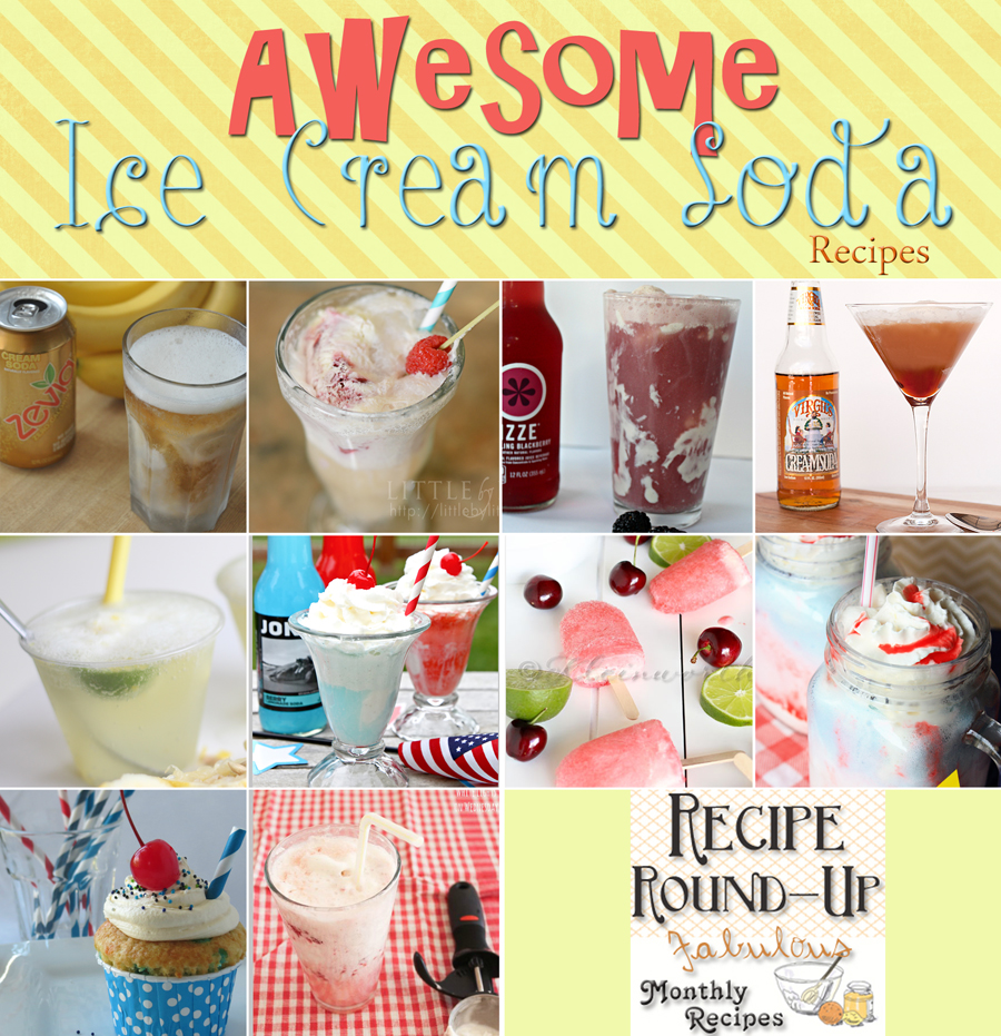 recipe round-up, ice cream soda day, ice cream soda recipes
