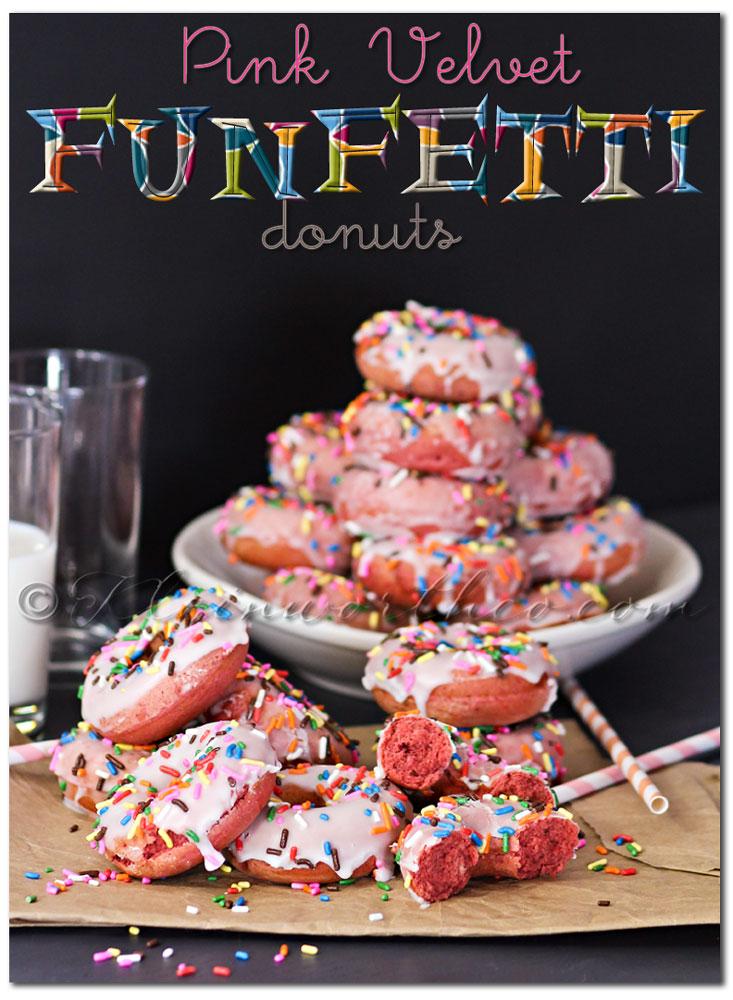 Pink Velvet Funfetti Donuts