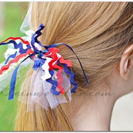 No Sew Patriotic Hair Ties