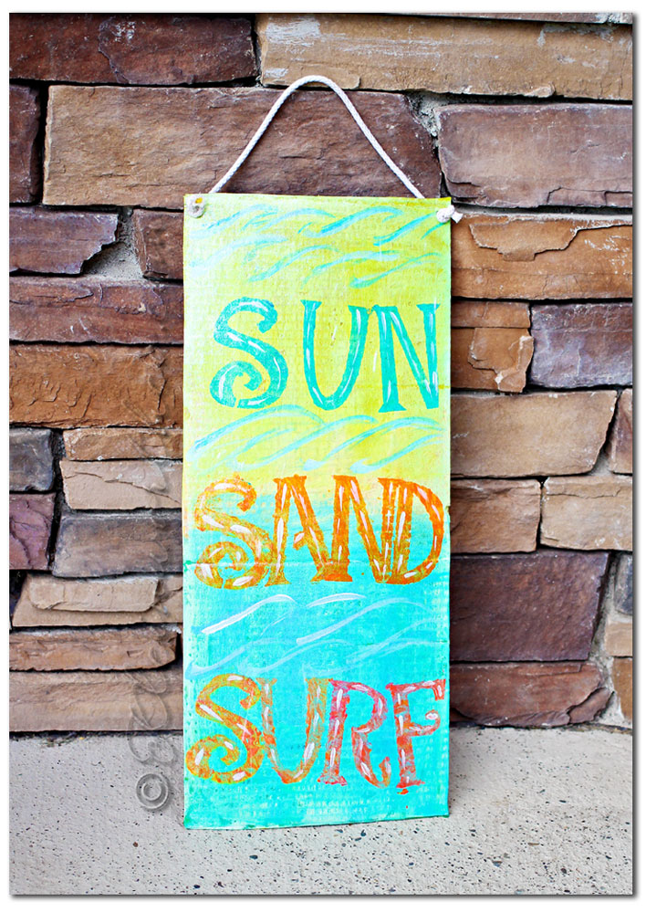 beachy painted board, Easy Kids Crafts Room Decor DIY