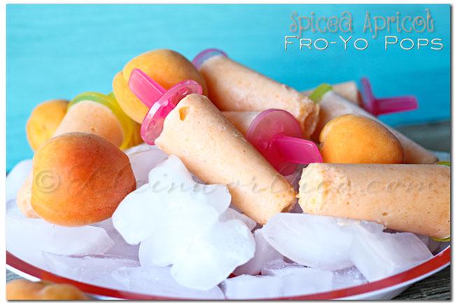 Spiced Apricot Fro Yo Pops