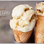 Caramel Sugar Cone Frozen Yogurt