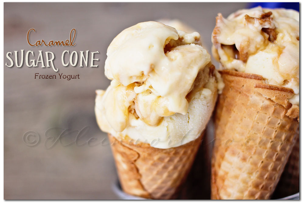 Caramel Sugar Cone Frozen Treat