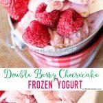 cheesecake, frozen yogurt, frozen treats, frozen desserts, easy dessert recipes, summer desserts