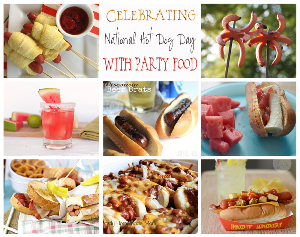 july recipe round-up, national hot dog day, fried hot dog sliders