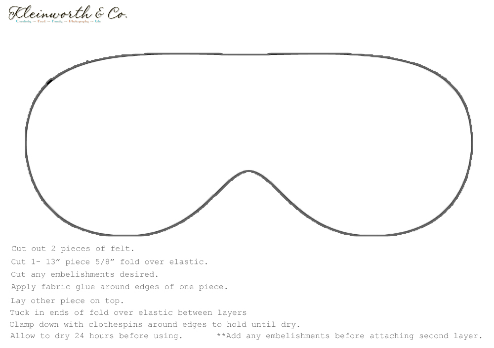 sleep mask printable template