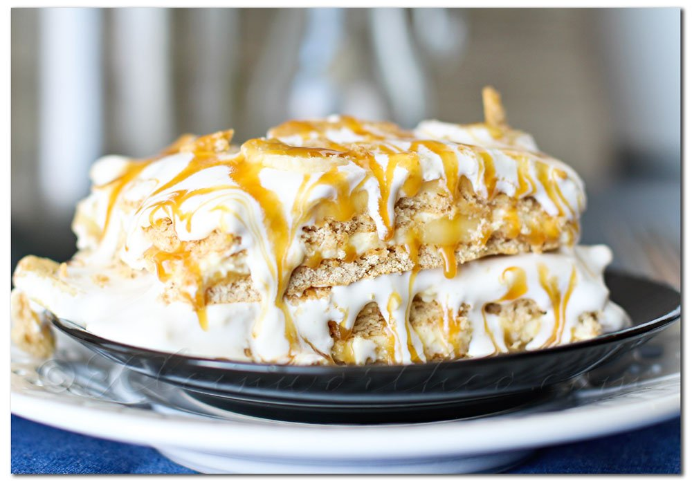 Banana Caramel Ice Box Cake