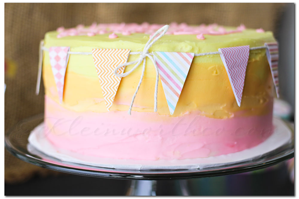 Buttercream Frosting Recipe, birthday cake for girls, summer birthday cake
