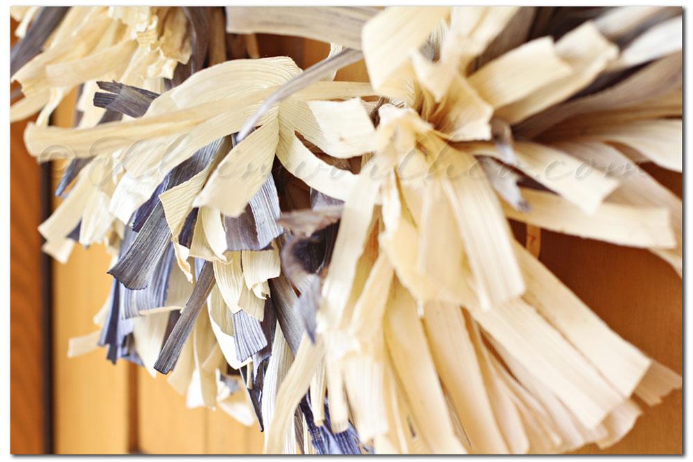 Frayed Corn Husk Wreath