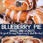 Blueberry Pie Mini Donuts