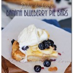 Dulce de Leche Banana Blueberry Pie Bars, gluten free crust, slow cooker recipe
