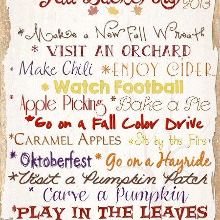 Fall Bucket List 2013 ~ Project 52 Week 34
