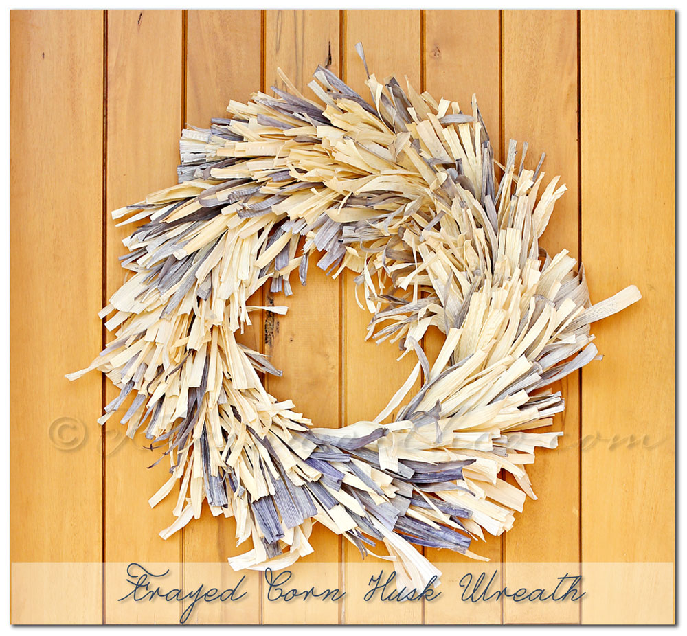 Frayed Corn Husk Wreath