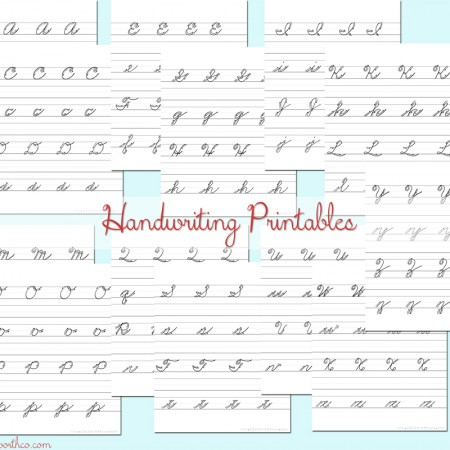 Cursive Handwriting Practice Sheets #BacktoSchoolWeek