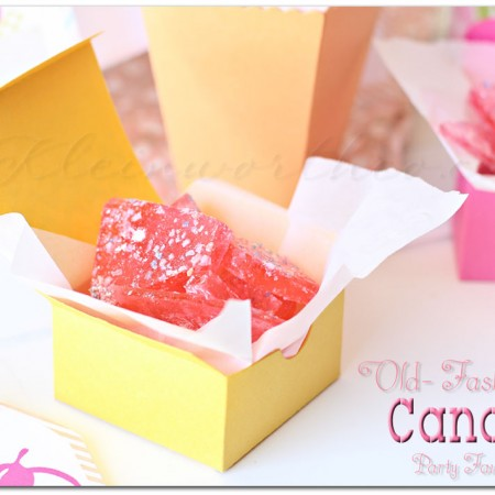 Easy Candy Recipe ~ Old Fashioned Party Favors