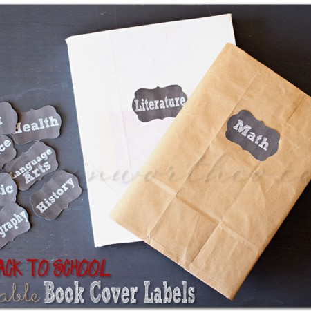 Printable Book Cover Labels