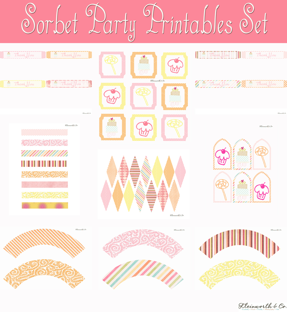 free party printables, birthday printables