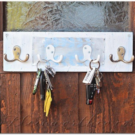 Distressed Key Rack