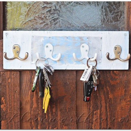Distressed Key Rack