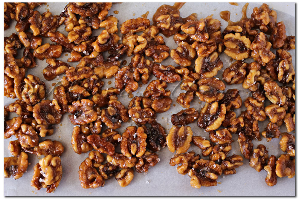 Pumpkin Spice Candied Walnuts