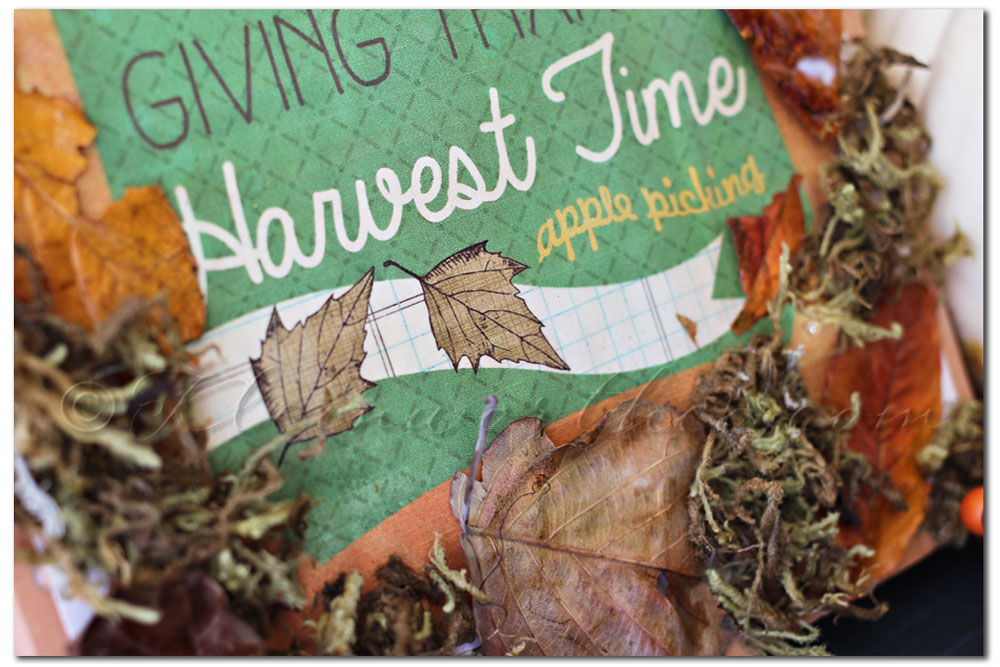 Decoupage Fall Sign, mod podge, free printable