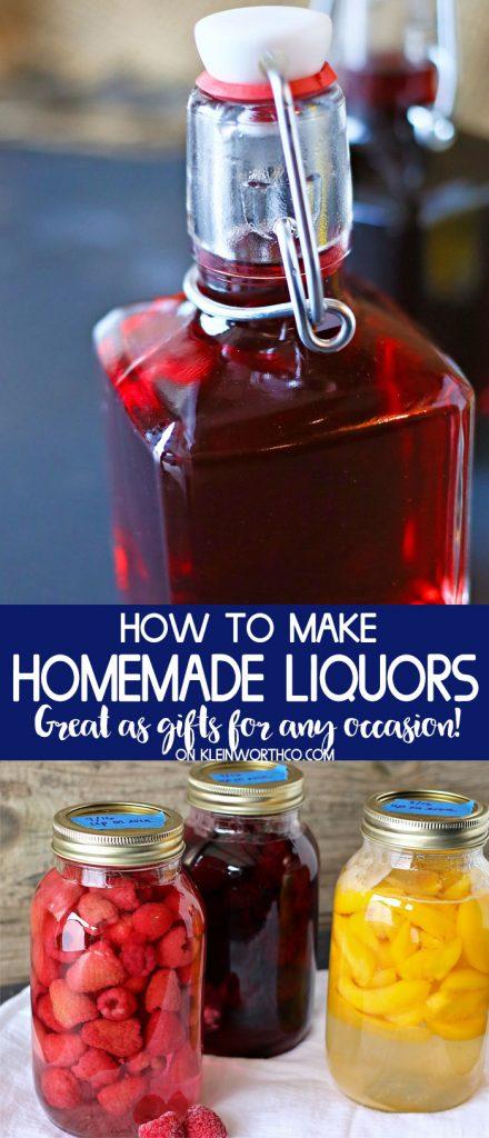 How to Make Homemade Liquors