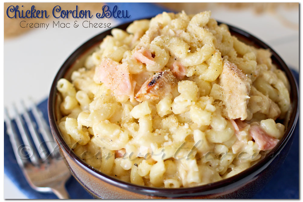 Chicken Cordon Bleu Creamy Mac & Cheese