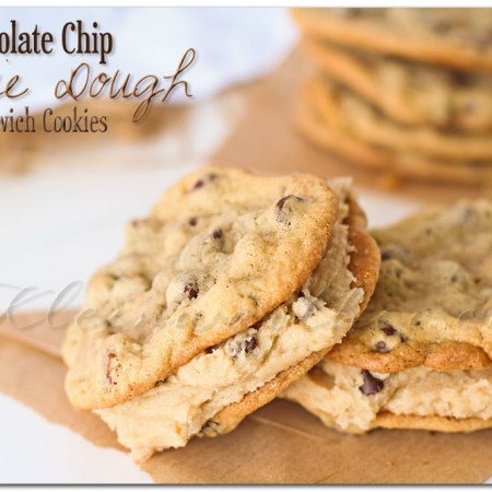 Chocolate Chip Cookie Dough Sandwich Cookie