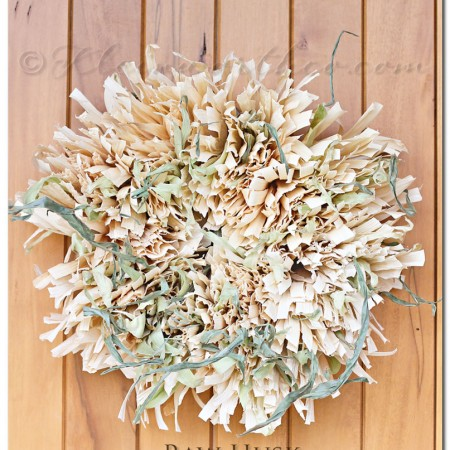 Raw Husk Corn Husk Wreath