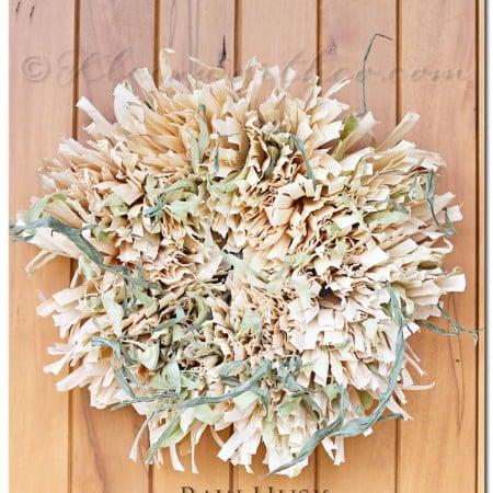 Raw Husk Corn Husk Wreath