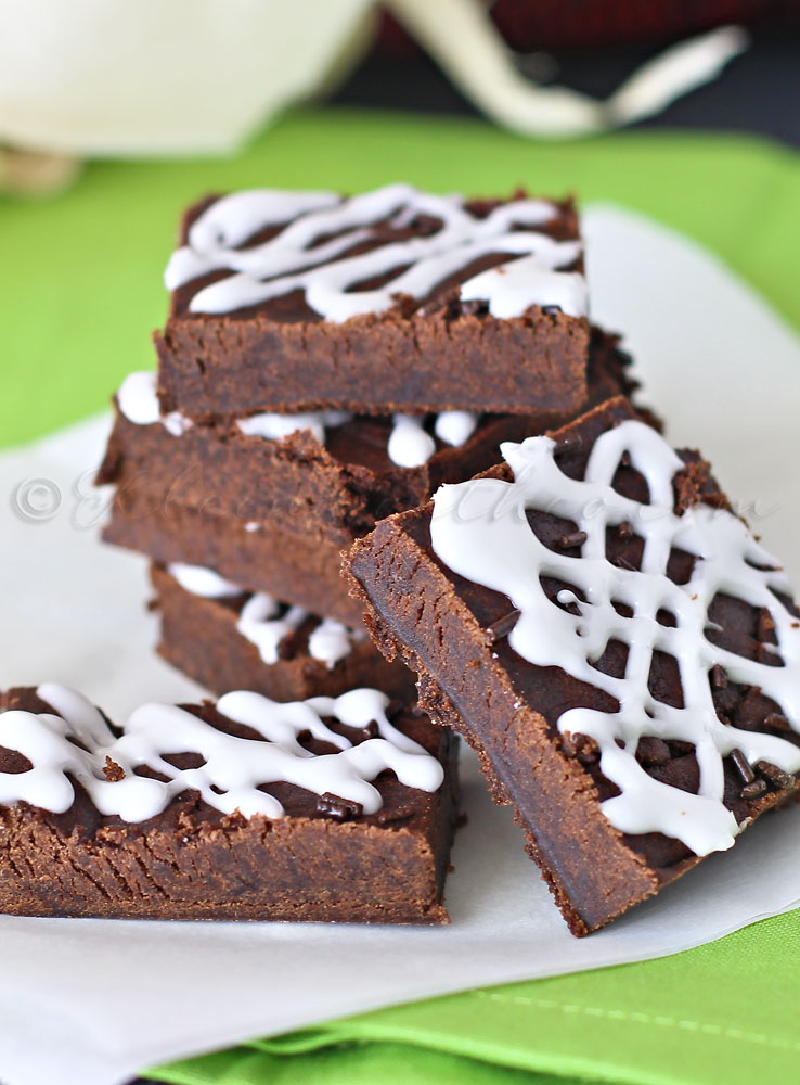 Chocolate Gingerbread Cookie Bars