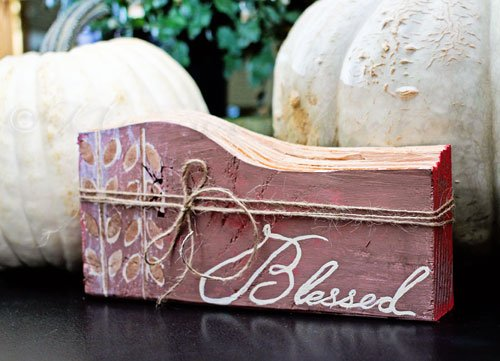 Blessed Fall Sign