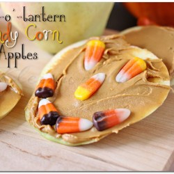 Jack-o'-Lantern Candy Corn Apples
