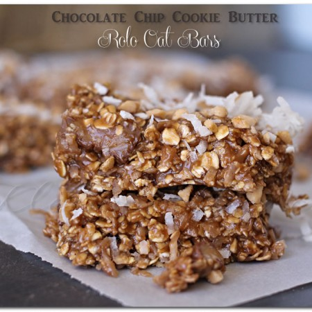 Cookie Butter Rolo Oat Bars