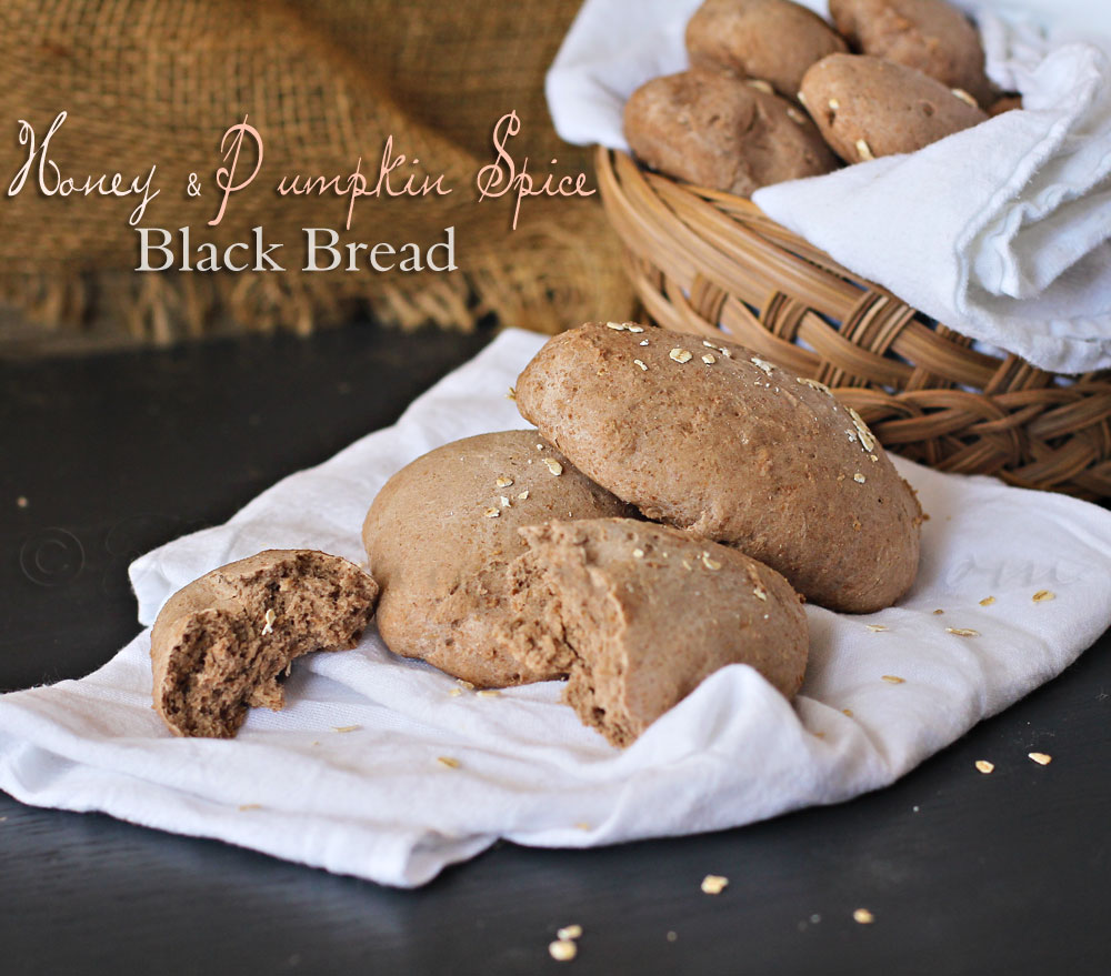Honey Pumpkin Spice Black Bread