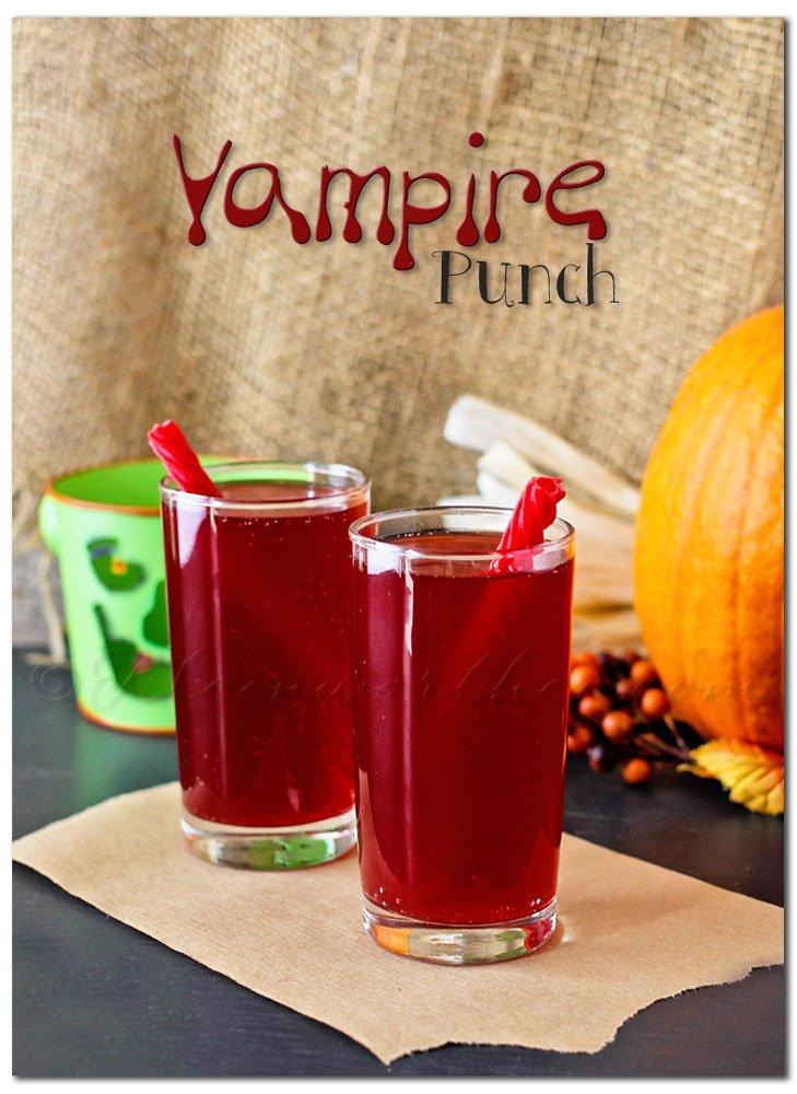 Vampire punch halloween drink for Alcoholic drinks for halloween punch