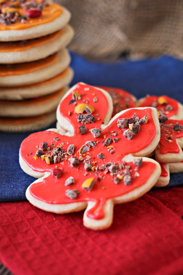 Fall Sugar Cookies, soft sugar cookies