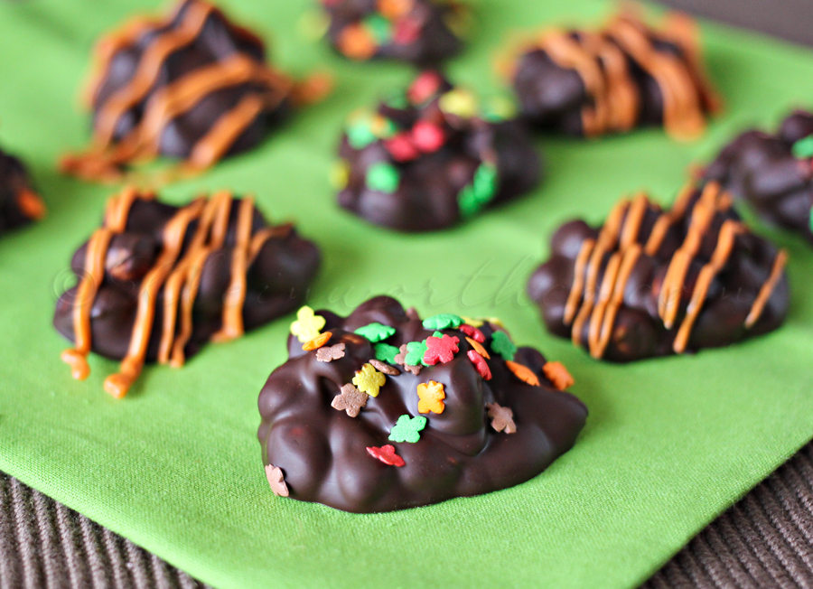 Fall Decorated Peanut Clusters