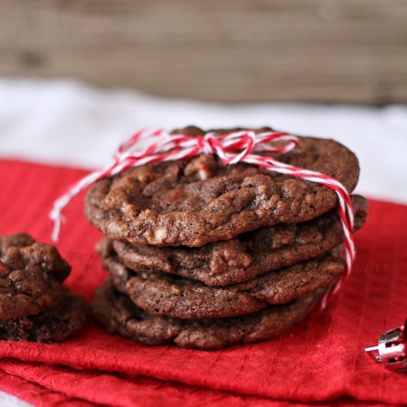 Peppermint Chocolate Chunk Cookies